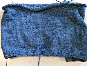 Beginning of my vest -- using Prairie Spun Jacob's Heritage Wool from  High Prairie Fibers