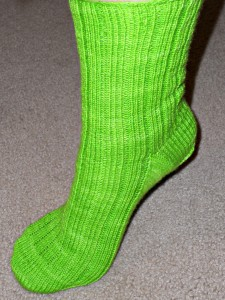 Hooray!  One sock is finished!