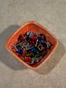 bowl & stitch markers