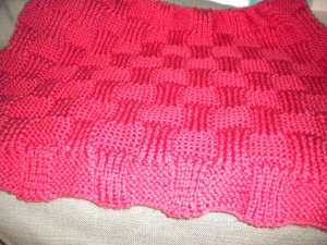 The Garter and Rib Basketweave Baby Blanket