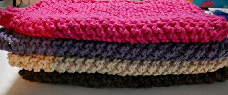 Four regular dishcloths