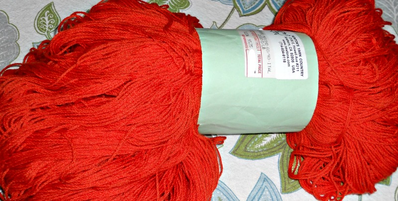 This is the yarn I'm going to overdye in fall colors.