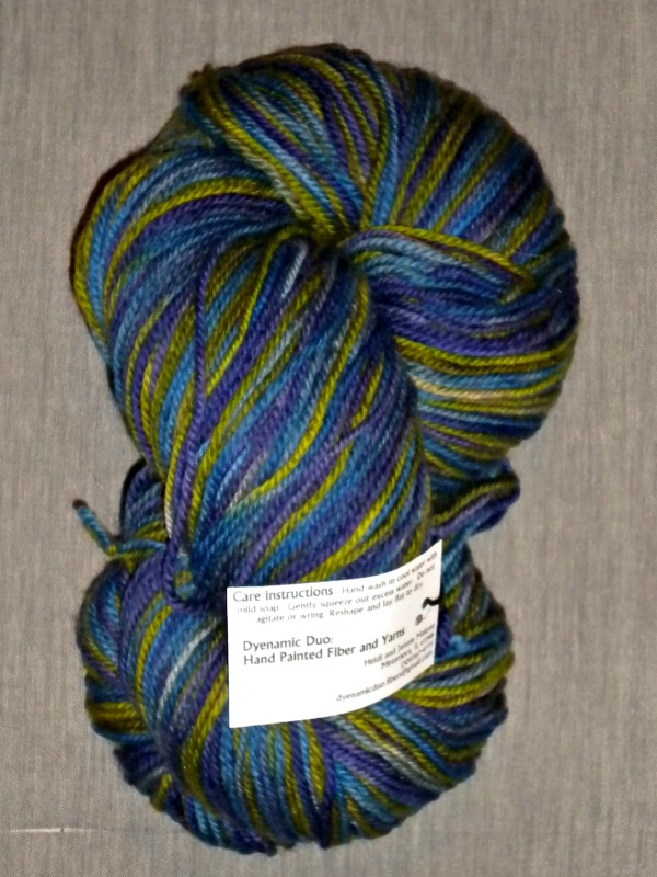 100% Superwash Faulkland Wool from Dyenamic Duo Hand Painted Fiber and Yarns