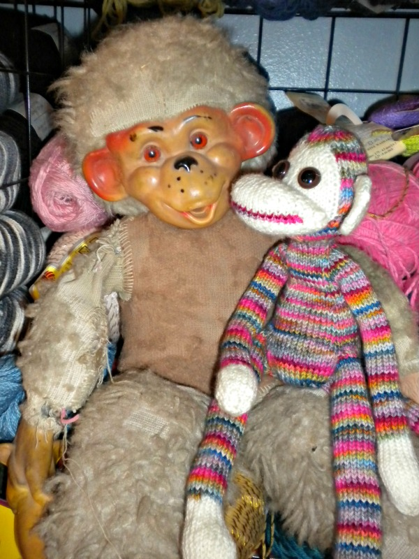 My new monkey with my old monkey (from my childhood)